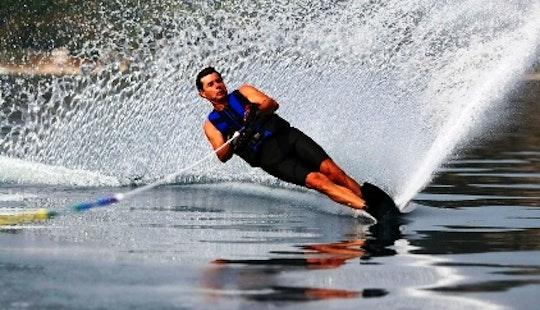 Water Skiing In Mugla, Turkey