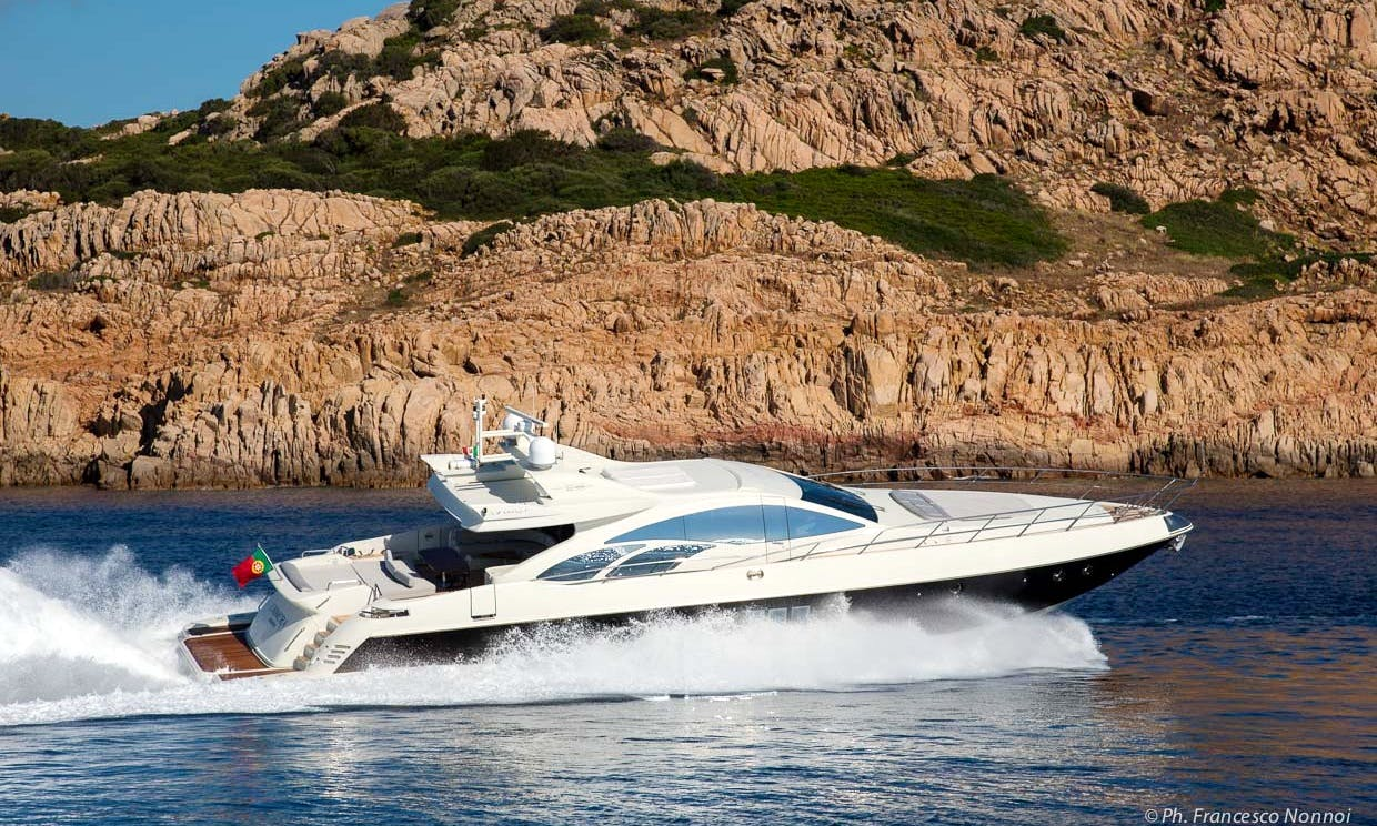 Captained Charter on 86ft Azimut Power Mega Yacht in Sardinia, Italy