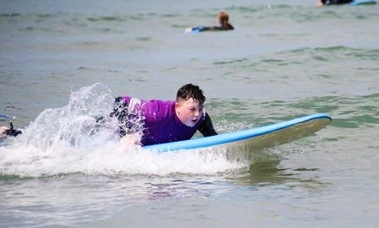 Surf Lessons Guided By Highly Trained Surf Instructors In Woolacombe, England