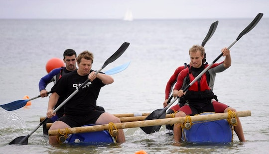 Raft Building In Newquay