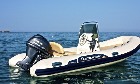 Rent A 14' Rigid Inflatable Boat In Sardegna, Italy