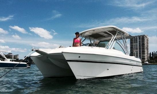 Enjoy 27 Ft Glacier Bay Catamaran Charter In Pompano Beach, Florida