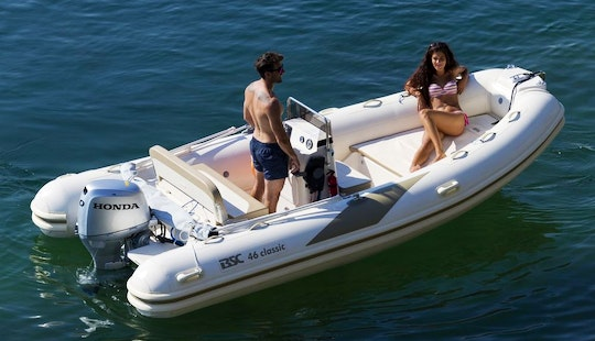 Rent 15' Inflatable Bsc 460 Rib In Domaso, Italy