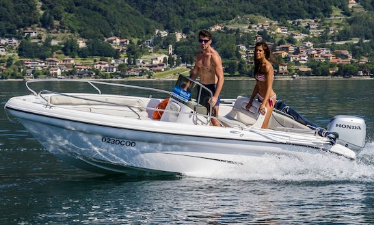 Rent 17' Ranieri Open Line Voyager Center Console In Domaso, Italy