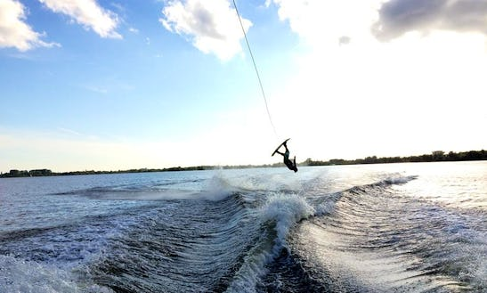 Wakeboarding In Loosdrecht, Netherlands