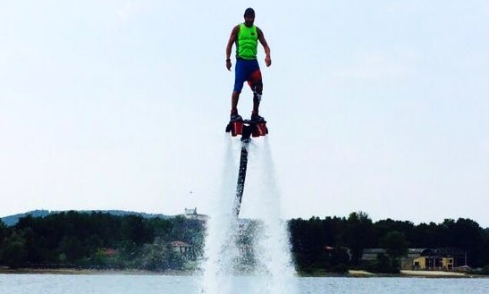 Flyboarding In Loosdrecht, Netherlands