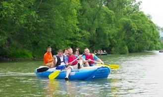River Rafting on Vah River, Slovakia