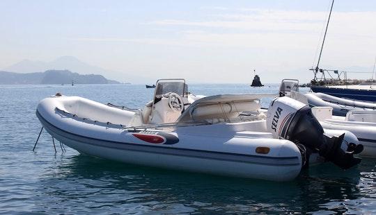 20' Predator 600 Rigid Inflatable Boat Rental In Campania, Italy