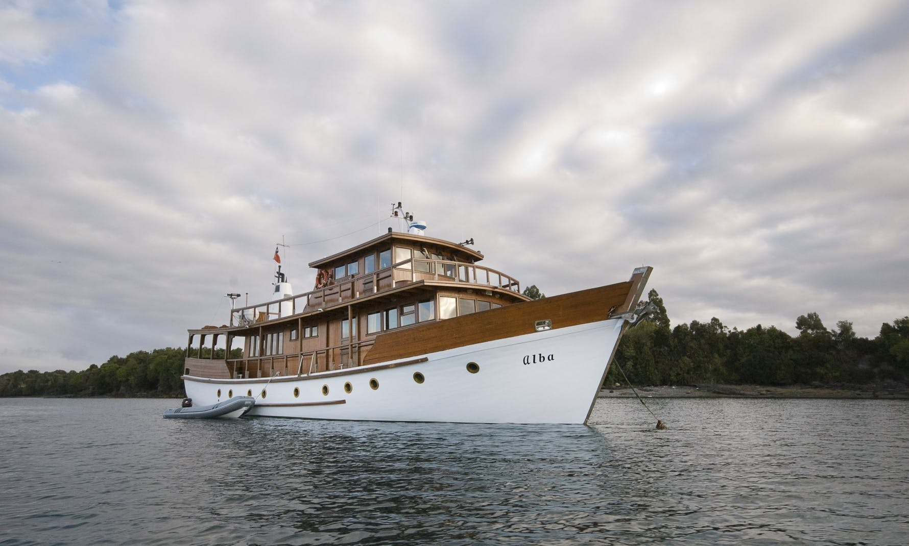 Traditional Wooden Motor Yacht in Dalcahue