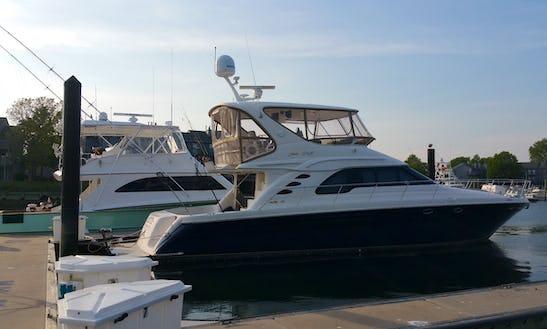 60ft Sea Ray Luxury Yacht Charter In Belmar, New Jersey