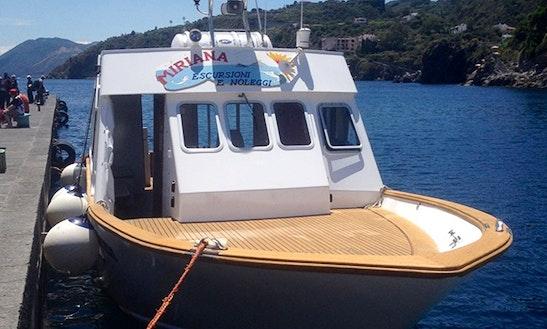 """""""miriana"""" Fishing Charter In Lipari"""