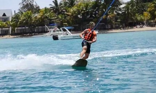 Wakeboarding In Pointe D'esny, Mauritius