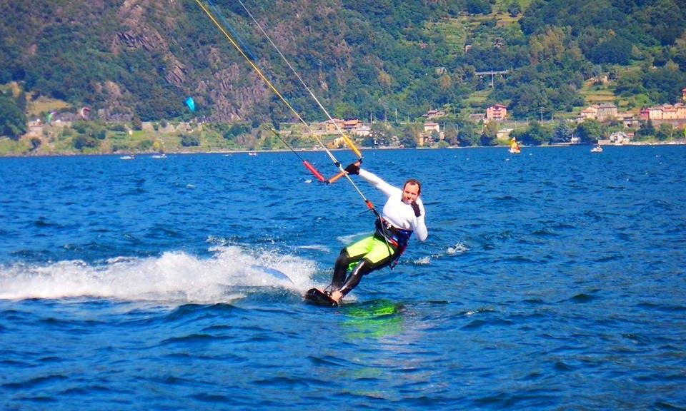 Kiteboarding in Colico, Italy