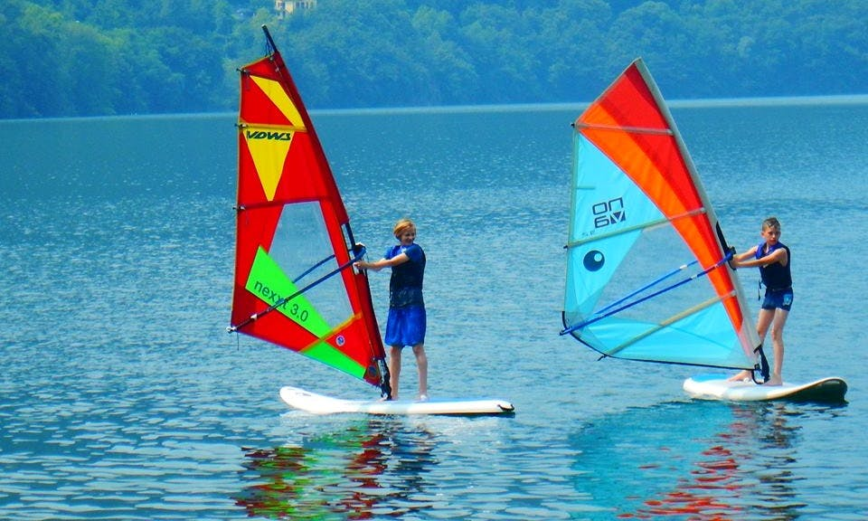 Windsurfing in Colico, Italy