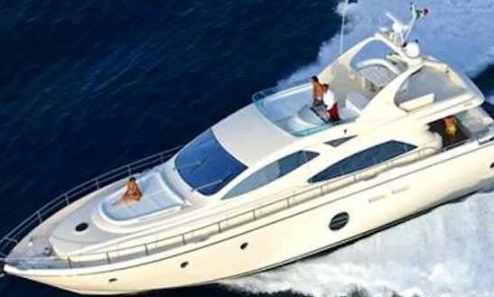Crewed Charter On Aicon 64 Fly Motor Yacht In Messina, Italy