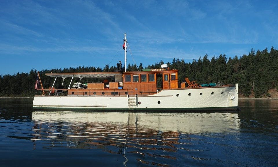 Captained Charter on 58' Classic Motor Yacht Charter in Seattle, Washington