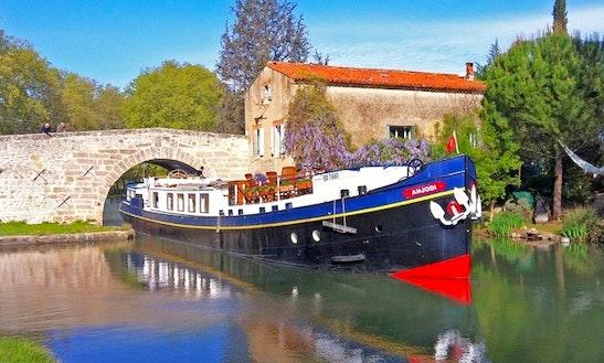 Explore Canal Du Midi, Marseillan On 100' Anjodi Canal Boat