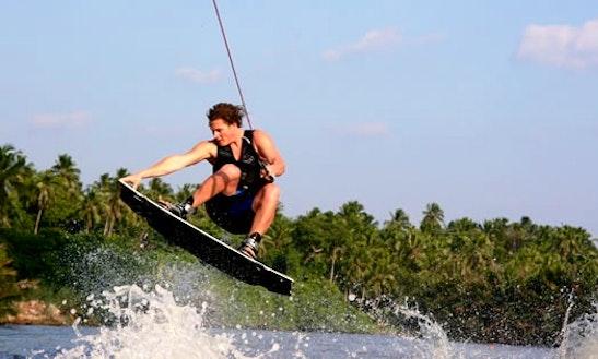 Wakeboarding In Tenby