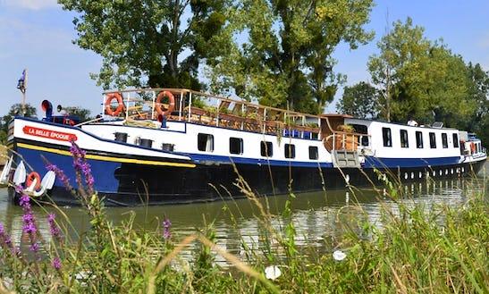 Explore Venarey-les-laumes, France On 128' La Belle Epoque Canal Boat