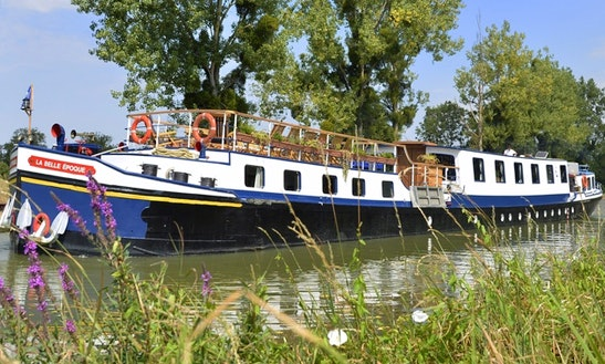 Explore Venarey-les-laumes, France On 128' La Belle Epoque Canal Boat