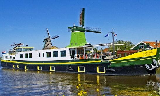 Explore Haarlem, Holland On 129' La Nouvelle Etoile Canal Boat