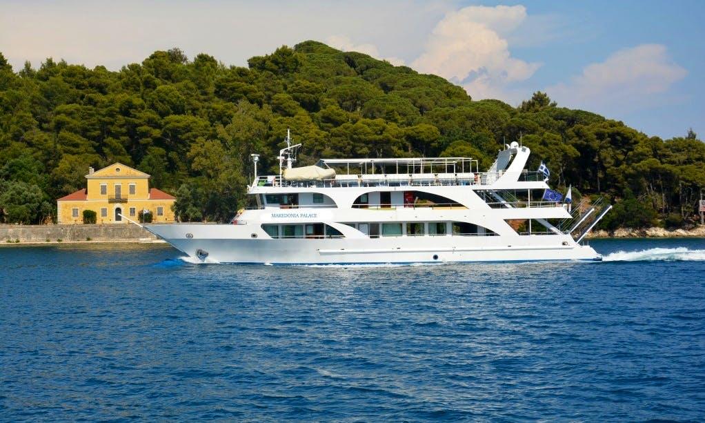"""Makedonia Palace"" Cruising in Nidri, Greece"
