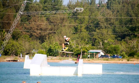Wakeboarding In Tambon Mai Khao, Thailand