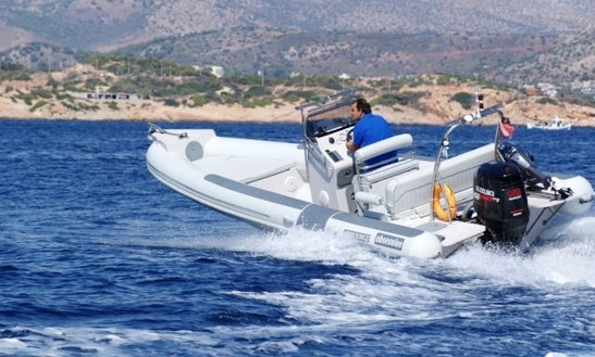 Self Drive Boat Obsession 740 Rib In Pireas, Greece