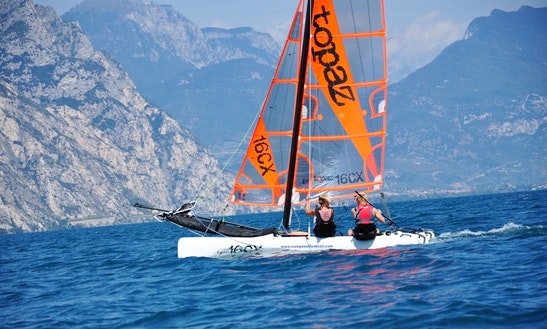 Topper Topaz 16 Beach Catamaran Rental And Courses In Malcesine