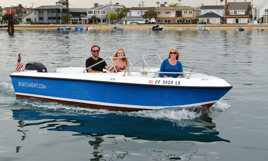 9.9hp In-harbor Powerboat Rental In Newport Beach