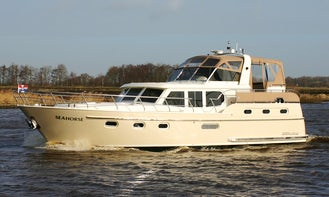 """Charter this 46ft """"Seahors"""" Motor Yacht in Friesland, Netherlands"""