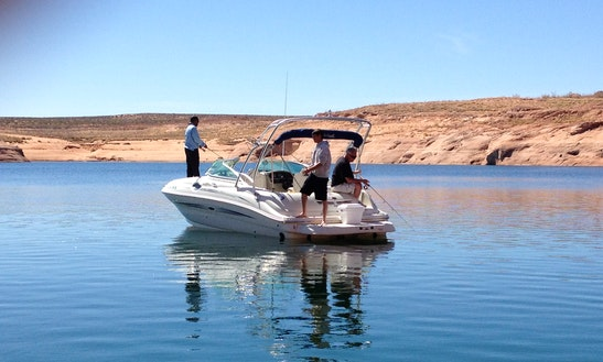 24' Sea Ray Sun Deck Bowrider Rental In Lake Powell, Arizona
