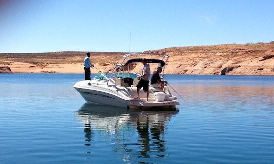 24' Sea Ray Sun Deck Bowrider Rental In Lake Powell, Arizona
