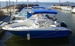 Quicksilver Commander 660 in Islas Menores, Spain