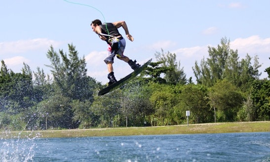 Enjoy Wakeboarding In Noumea,new Caledonia