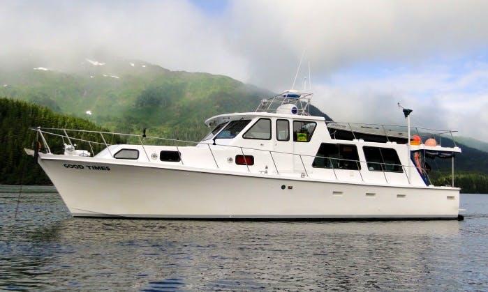 Exclusive Fishing Trip on 50' Motor Yacht in Whittier, Alaska