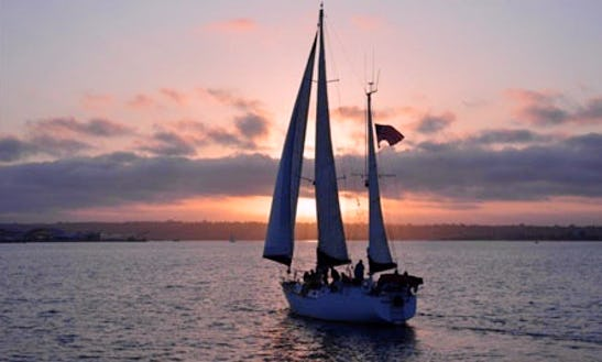 55' Large Cruising Sailboat Charter In San Diego
