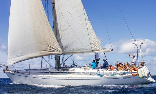 Sailing Cruises On White Time Yacht With Captain Eugene In Cape Verde