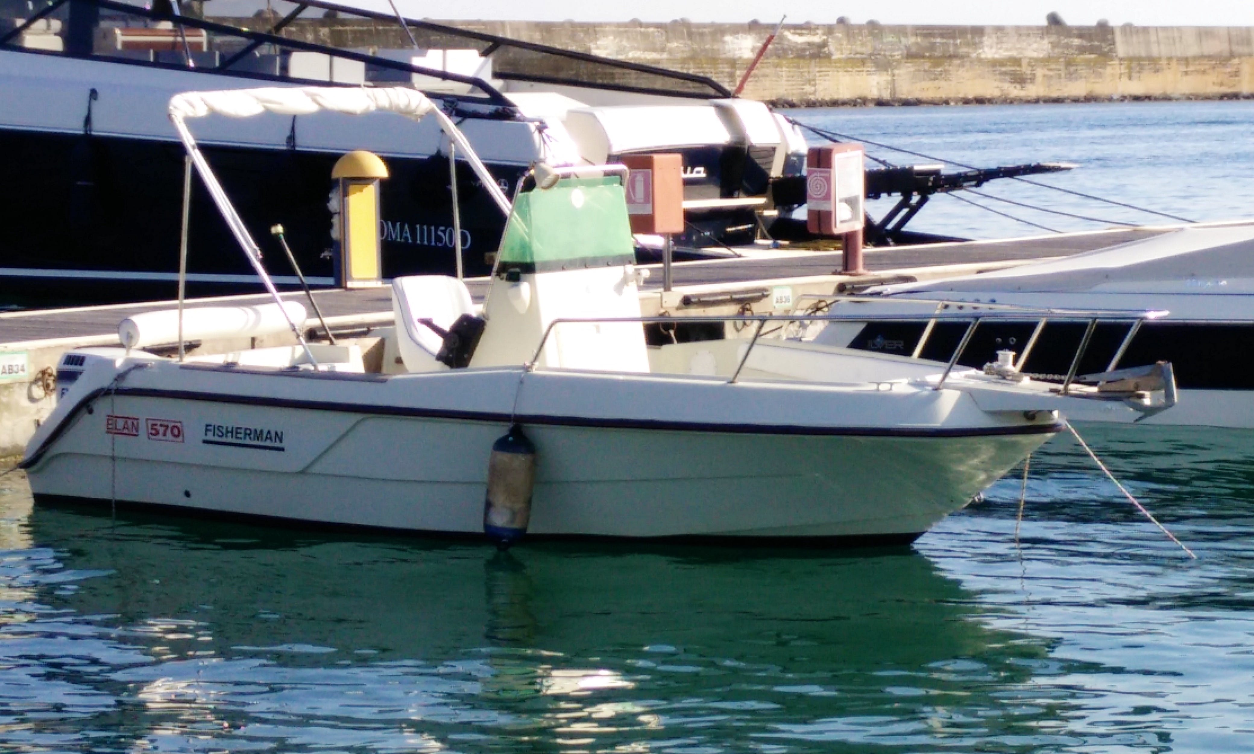 Fishing Trips From Santa Maria di Leuca On Elan 570