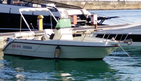 Fishing Trips From Santa Maria Di Leuca On Elan 570 Center Console