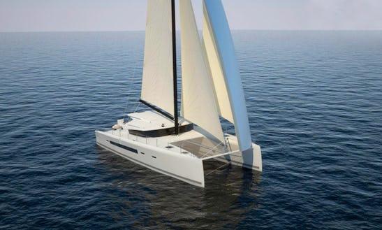 Enjoy Sailing The Gulf Of Saint-tropez On Eos 54 Catamaran