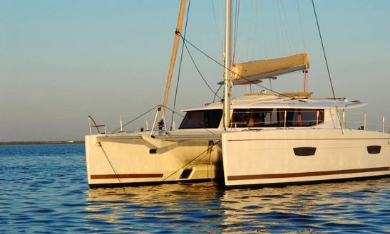 Enjoy Sailing On Helia 44 Evolution Catamaran In Cogolin