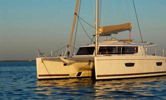 Enjoy Sailing On Helia 44 Evolution Catamaran In Cogolin