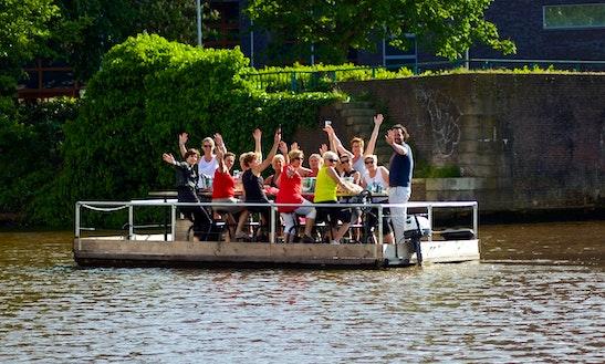 Enjoy Breda, Netherlands On The Group Pedal Passenger Boat