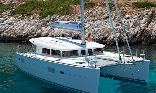 Crusing The Gulf Of Saint Tropez On Lagoon 400 S2 Catamaran