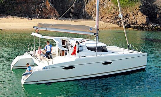 36' Cruising Catamaran Mahe Charter In Le Marin