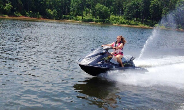 Ride the Yamaha Waverunner VX Deluxe in Wake Forest / Raleigh