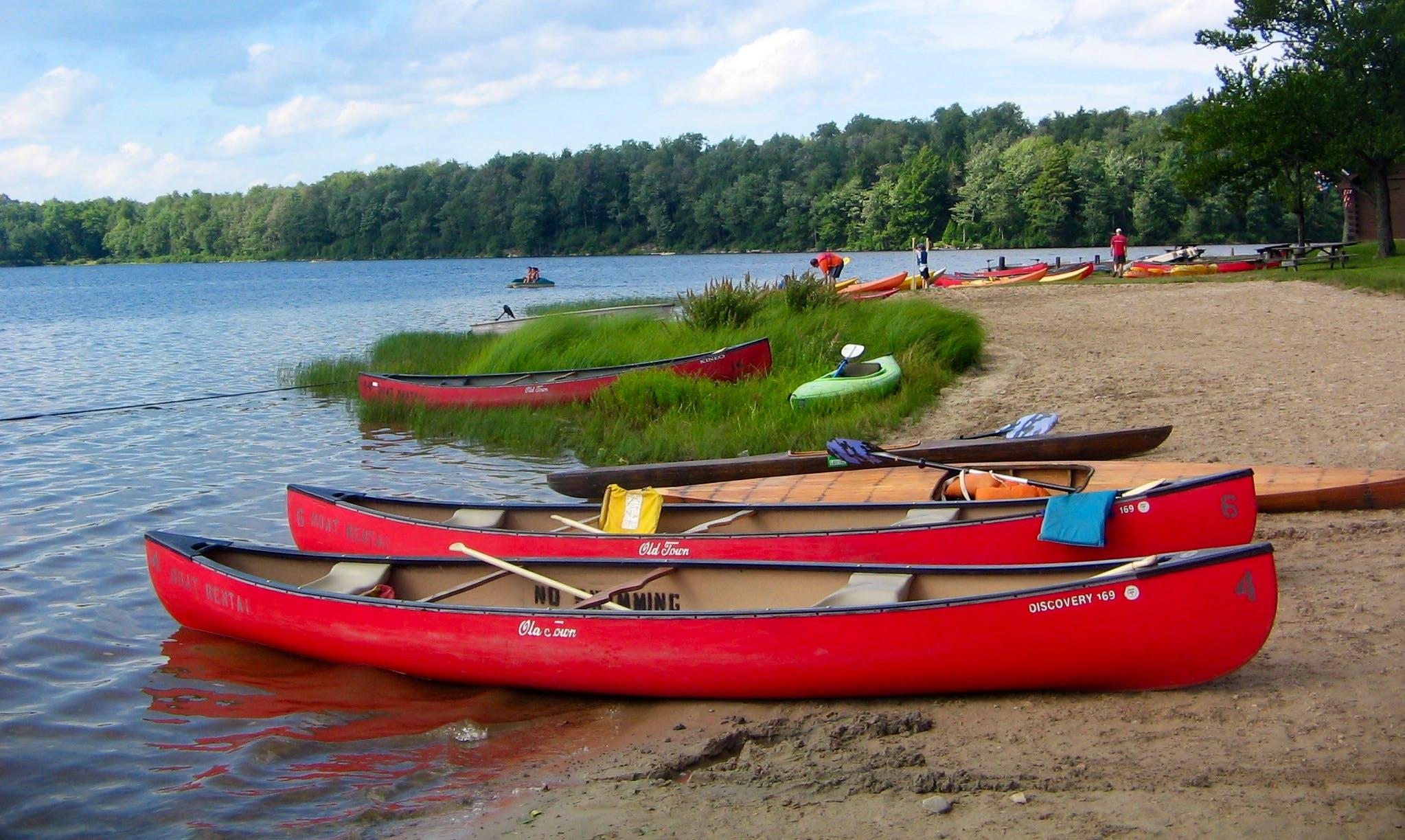 Canoe Rentals at Indian Lake Marina, PA