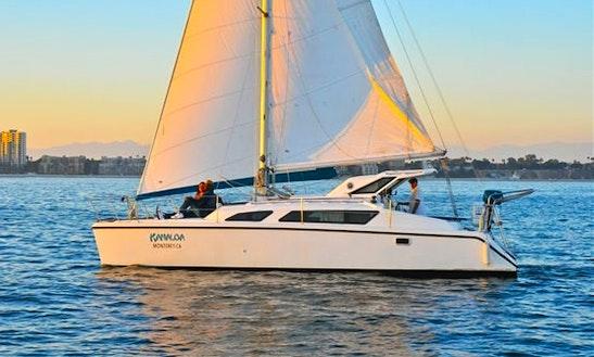 Sail Out Of Long Beach Harbor On A 34' Gemini Catamaran!