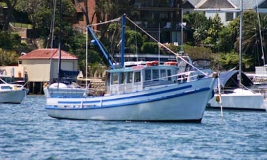 Sport Fishing Charter On Fishing Boat In Cronulla, New South Wales